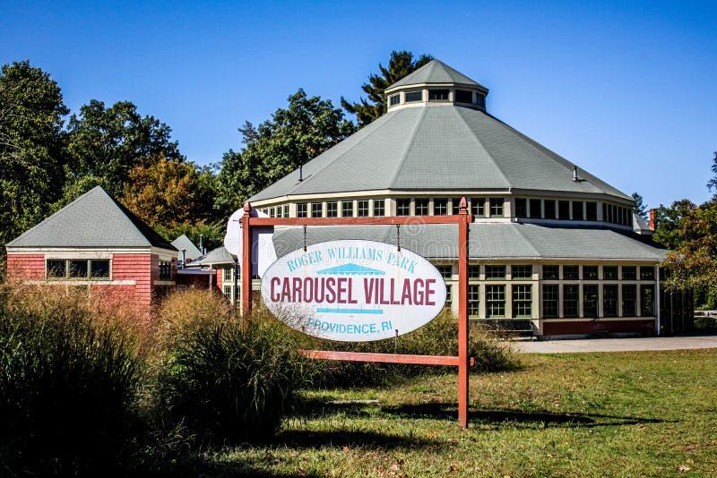 Das Karussell, Roger Williams Park stockbilder