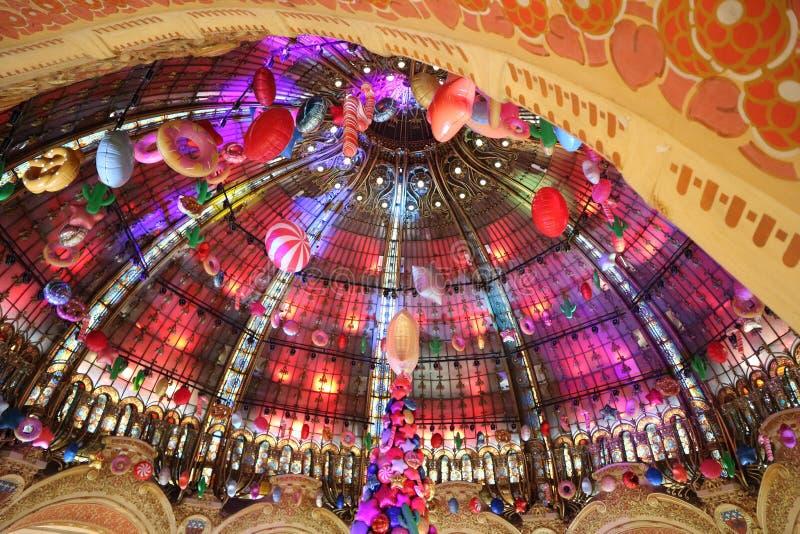 Das Kaufhaus des Galeriela fayette, in der Mitte von Paris Dezember 2018 stockfoto