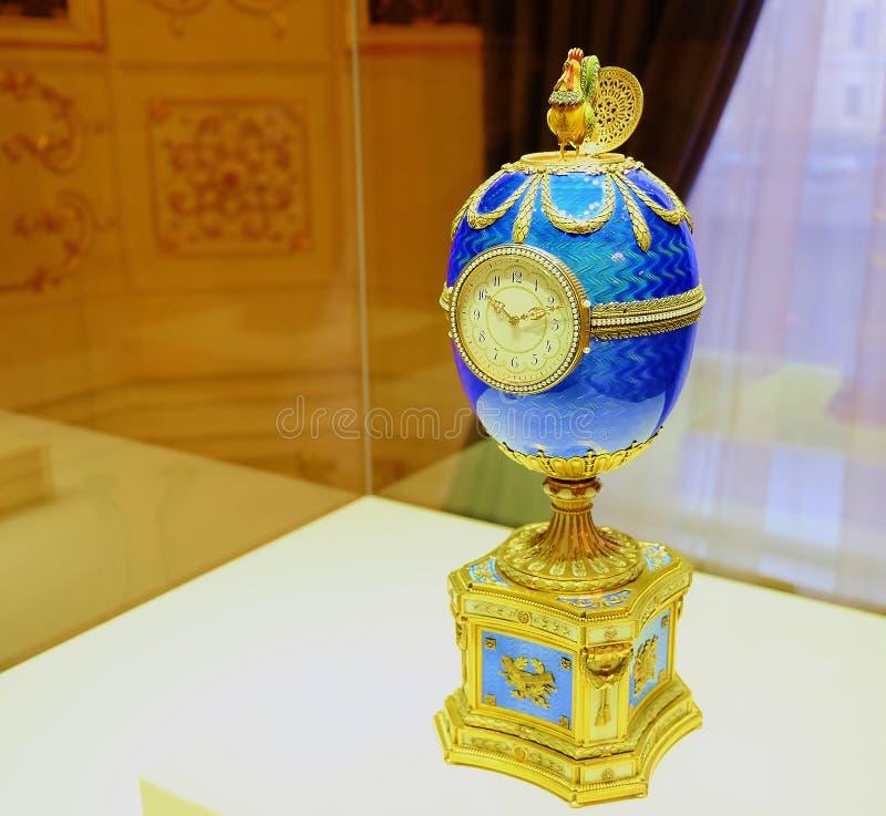 Das Kelch-Ei wurde auf Befehl von Kelch im Jahre 1904 als Geschenk zu seiner Frau Varvara Kelch-Bazanova für Ostern hergestellt lizenzfreies stockbild