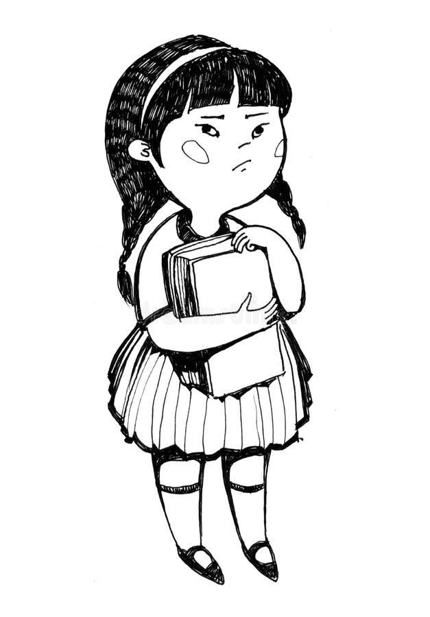 Kleines japanisches Mädchen Nettes Nettes Kleines