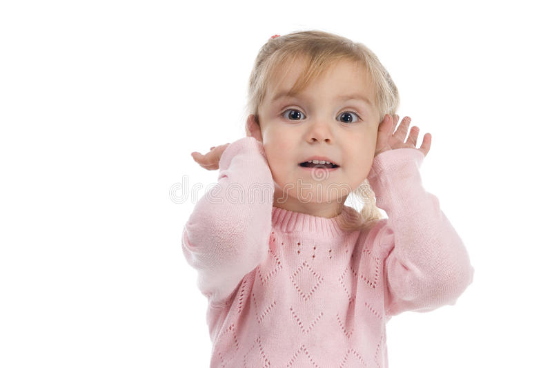 Das kleine Mädchen stockfotos