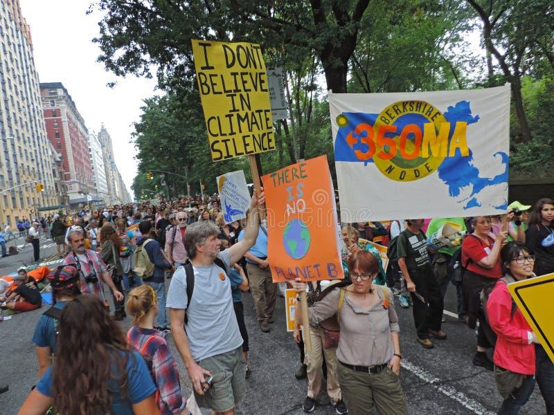 Das Klima März New York City 2014 der Leute lizenzfreies stockfoto