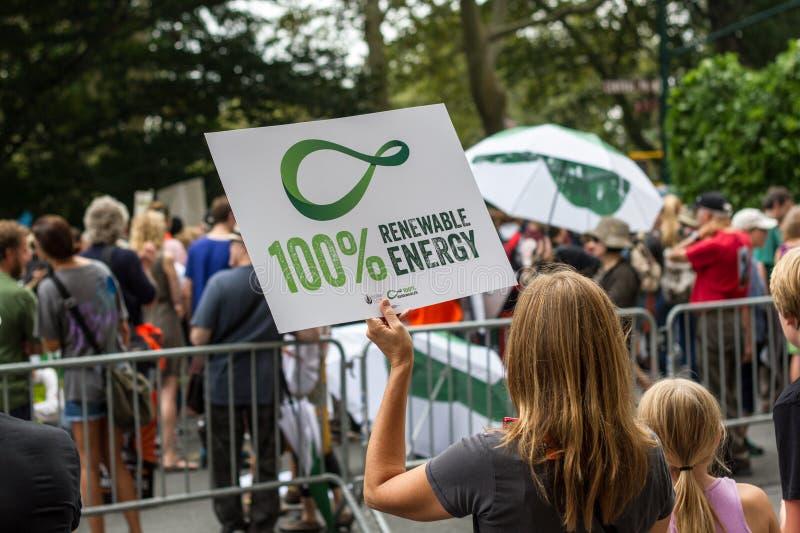 Das Klima März NYC der Leute lizenzfreies stockbild