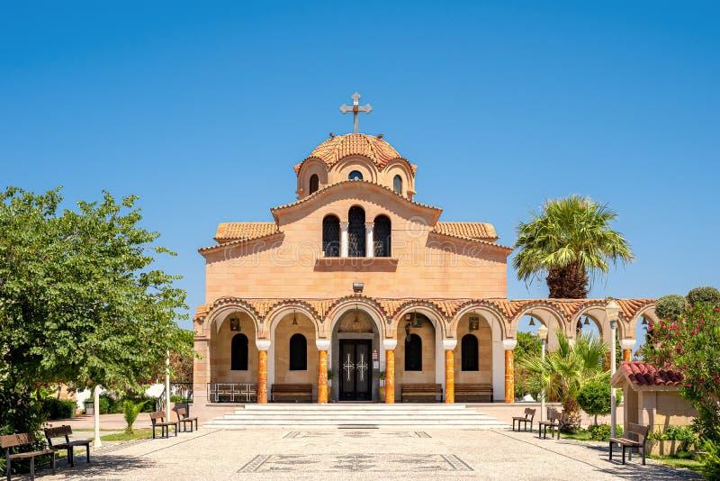 Das Kloster des Heiligen Nectarius auf Rhodes Island, Faliraki, Griechenland stockfoto