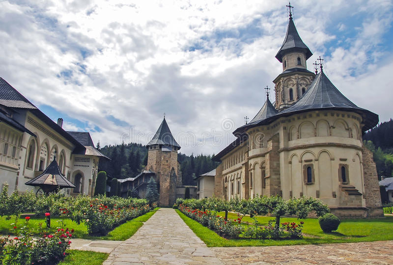 Das Kloster Putna, Rumänien. Europa. lizenzfreies stockfoto