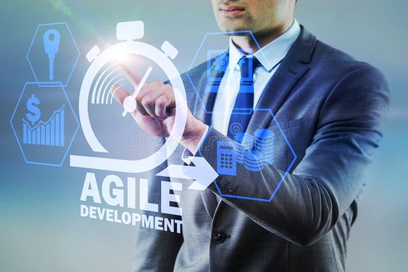 Das Konzept der beweglichen Softwareentwicklung stockfoto