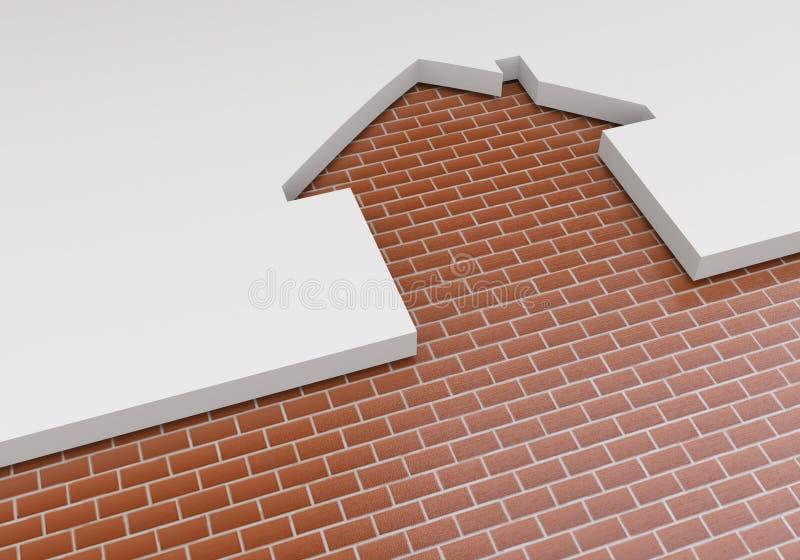 Das Konzept der Planung des Baus der Neubauwohnungen Das Heraus lizenzfreie abbildung