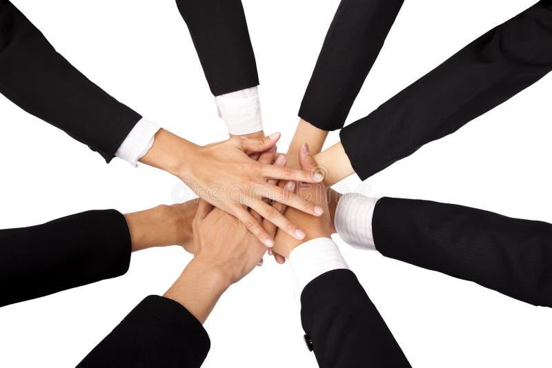 Das Konzept der Teamwork und der Mitarbeit lizenzfreie stockfotografie