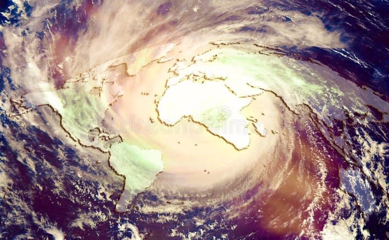 Das Konzept des katastrophalen Klimawandels stockfotografie