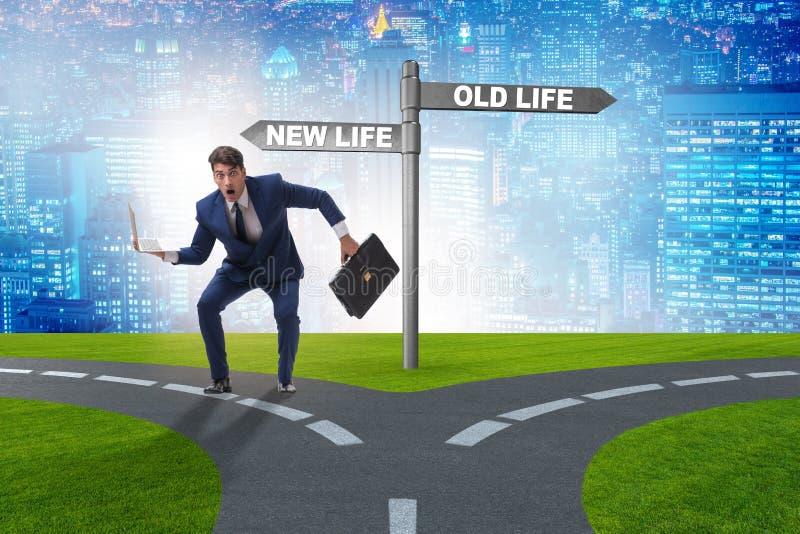 Das Konzept des neuen und alten Lebens lizenzfreies stockfoto