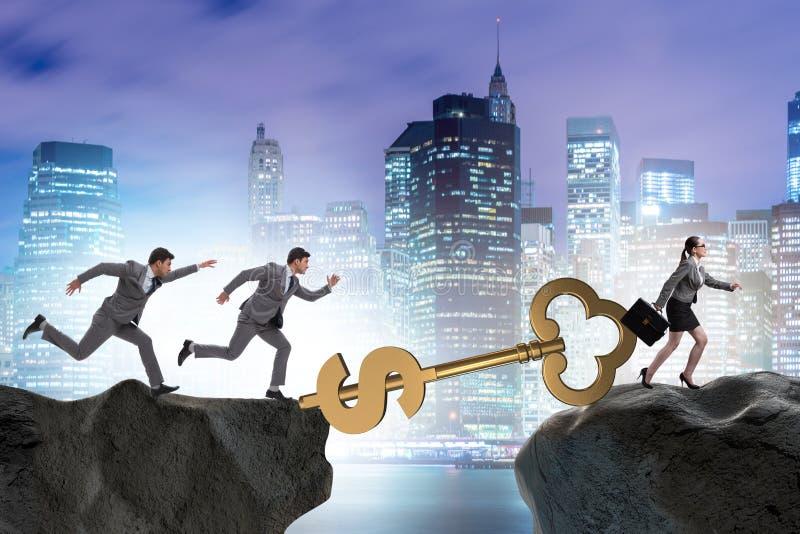Das Konzept des Schlüssels zum Finanzerfolg und zum Wohlstand stockfoto
