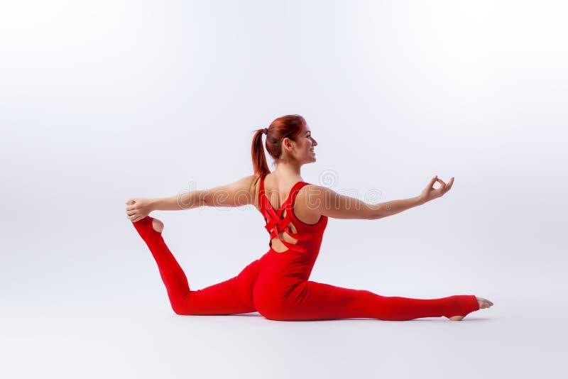 Das Konzept des Sports und der Meditation Training für das Ausdehnen und Yoga stockbild