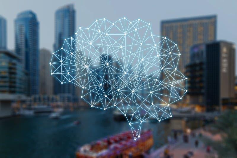 Das Konzept von autonomen Sachen und von intelligenter Stadt vektor abbildung