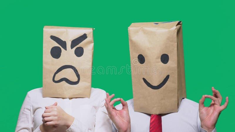 Das Konzept von Gefühlen und von Gesten   stockfotos