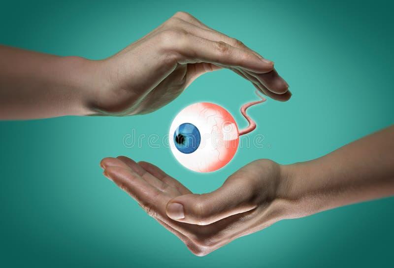 Das Konzept von gesunde Augen lizenzfreies stockbild