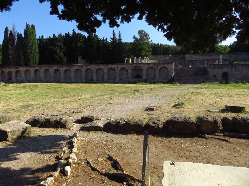 Das Kos Asklepion Seine Ursprung werden zurück zu 400 BC verfolgt stockfoto