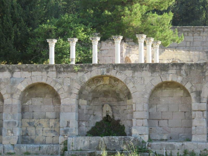 Das Kos Asklepion Seine Ursprung werden zurück zu 400 BC verfolgt lizenzfreie stockbilder