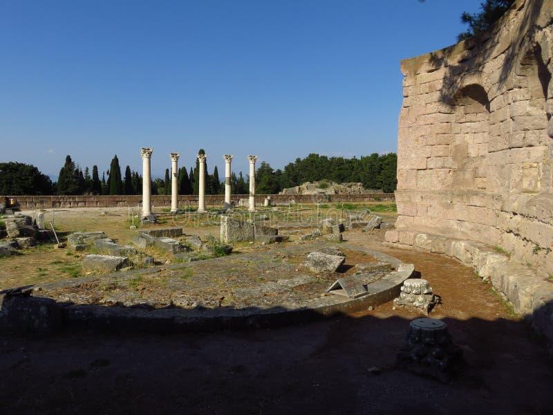Das Kos Asklepion Seine Ursprung werden zurück zu 400 BC verfolgt lizenzfreies stockfoto