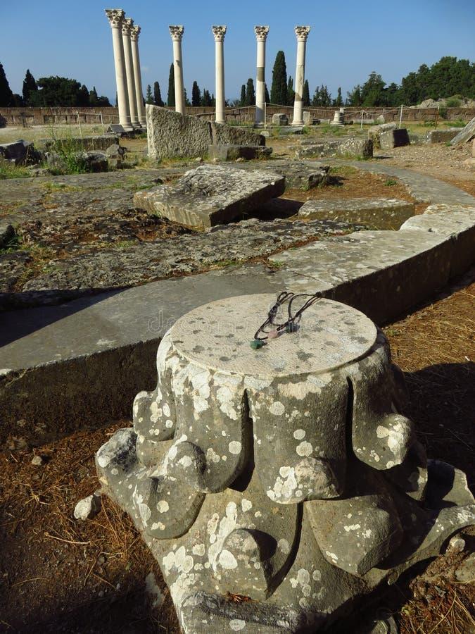 Das Kos Asklepion Seine Ursprung werden zurück zu 400 BC verfolgt stockbild