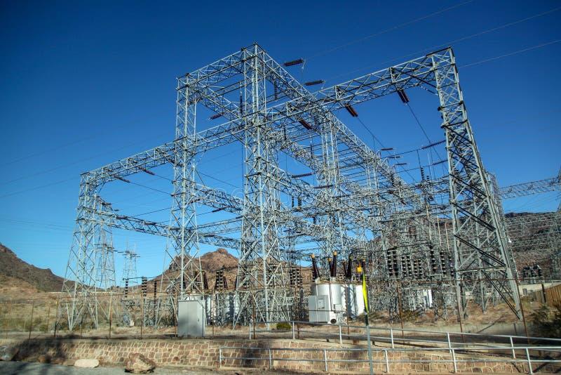 Das Kraftwerk in Hooverdamm in USA lizenzfreies stockbild