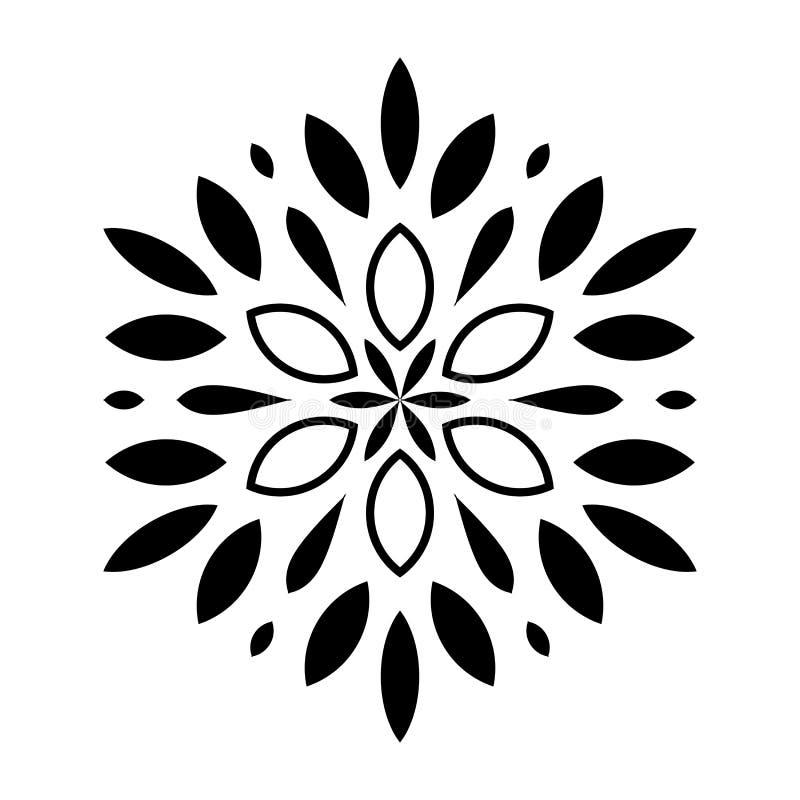 Das Kreismuster wird benutzt, um Teller, Kleidung und andere Zwecke zu entwerfen Geometrische Ikone Sieben gezeigter Stern auf we vektor abbildung