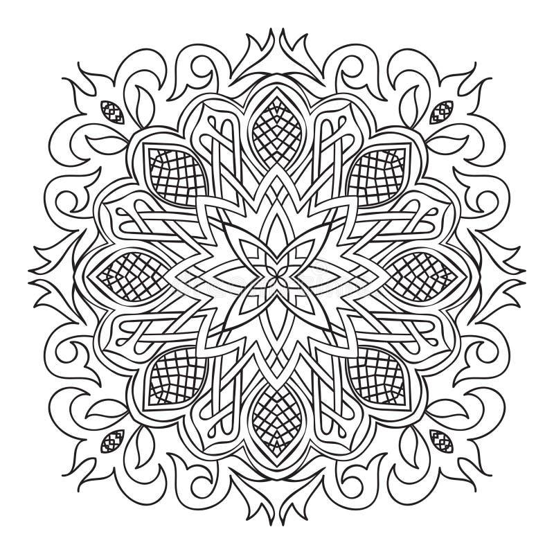 Das Kreismuster wird benutzt, um Teller, Kleidung und andere Zwecke zu entwerfen Islamische ethnische Verzierung für Tonwaren, Fl stock abbildung
