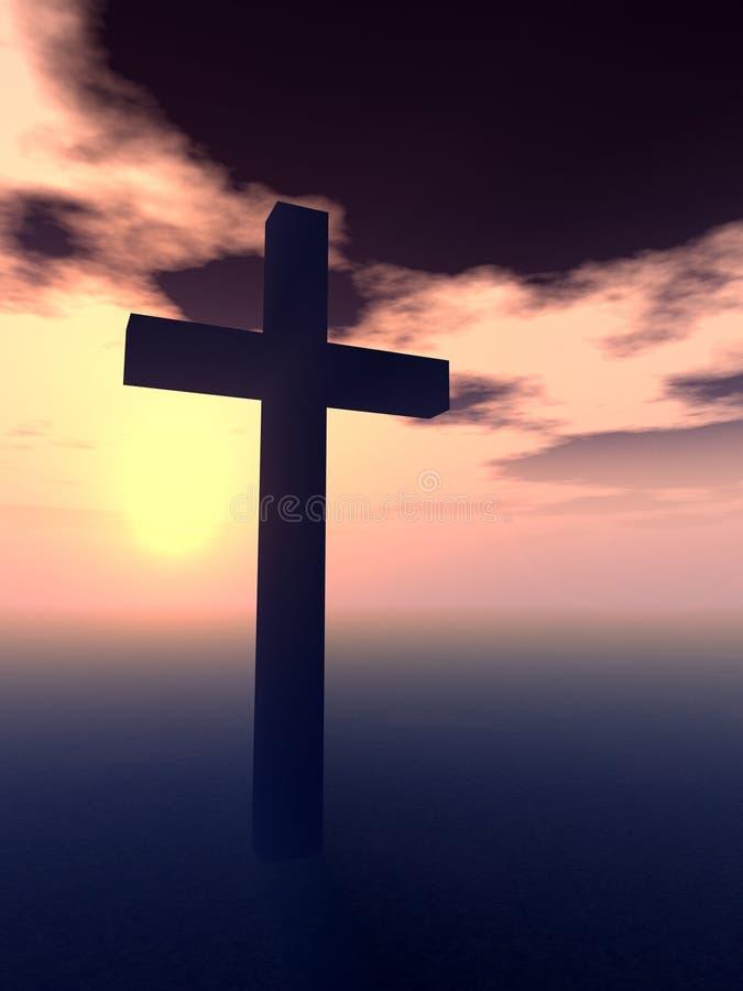 Das Kreuz 6 lizenzfreie abbildung