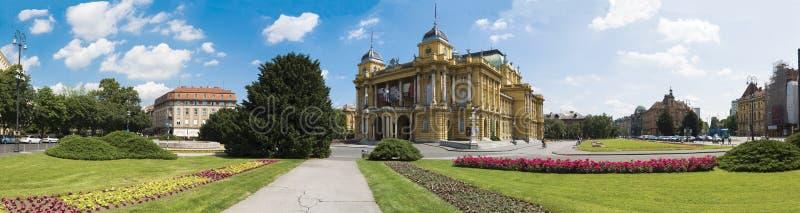 Das kroatische Nationaltheater lizenzfreies stockfoto