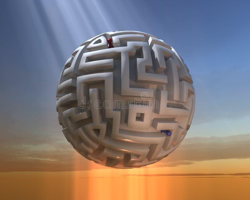 Das kugelförmige Labyrinth stock abbildung