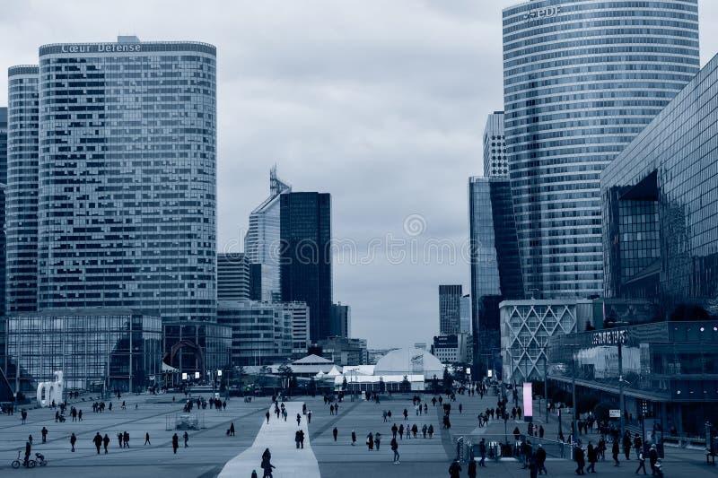 Das La-Verteidigungsgeschäftsgebiet von Paris lizenzfreies stockfoto