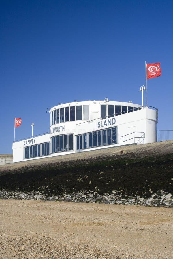 Das Labworth-Restaurant, Canvey Island, Essex, England, gegen stockbilder