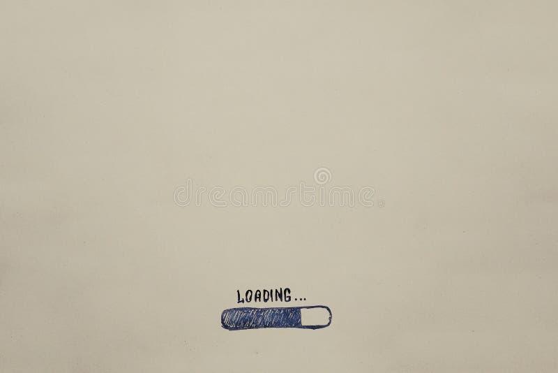 Das Laden wird auf Kraftpapier gezeichnet Fortschritt, für den Kalender, Einladungen, Karten, Glückwünsche Geschäftspost stockbilder