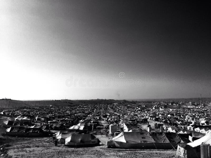 Das Lager Flüchtlings Kaworgosk Syrien Irbil - der Irak stockbild