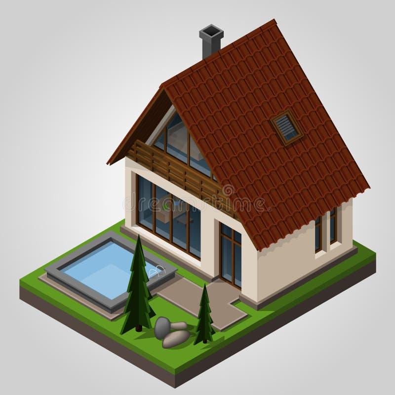Das Landhaus lizenzfreie abbildung
