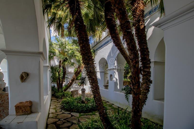Das Landhaus San Michele im Frühjahr, in Anacapri auf der Insel von Capri, Italien lizenzfreie stockfotografie