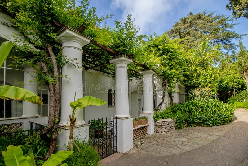 Das Landhaus San Michele im Frühjahr, in Anacapri auf der Insel von Capri, Italien stockfotos