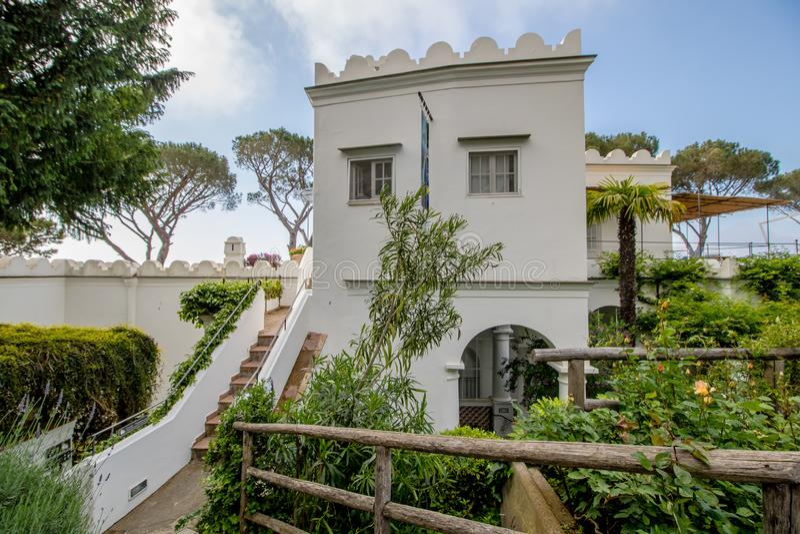 Das Landhaus San Michele im Frühjahr, in Anacapri auf der Insel von Capri, Italien lizenzfreie stockbilder