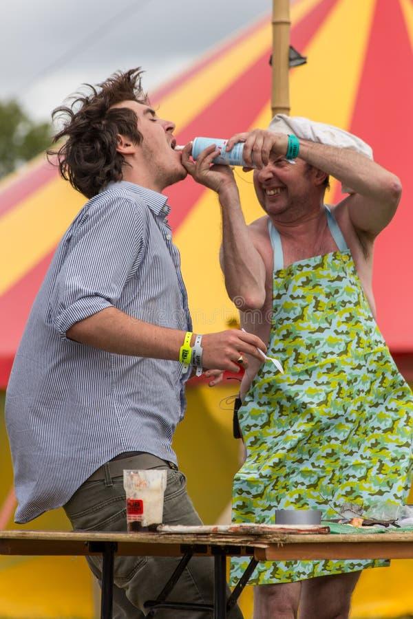 Das Larmer-Baum-Festival, Tollard königlich, Wiltshire, Großbritannien lizenzfreie stockfotos