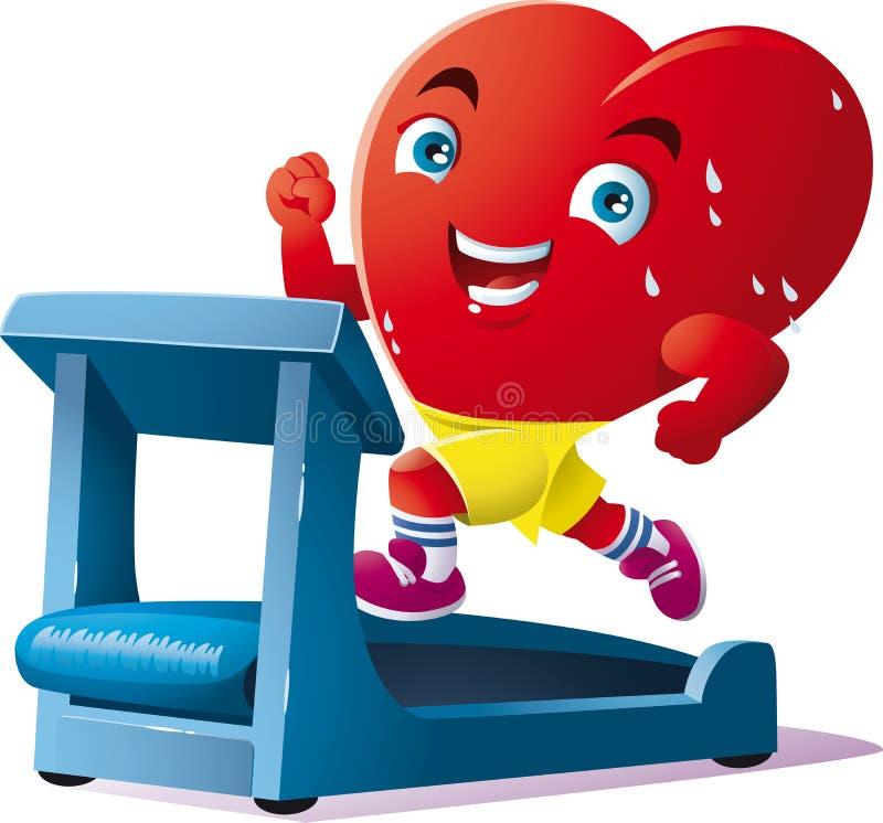 Das Laufen ist der Sport des Herzens lizenzfreie abbildung