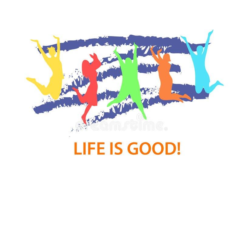Das Leben ist gut stockfotos