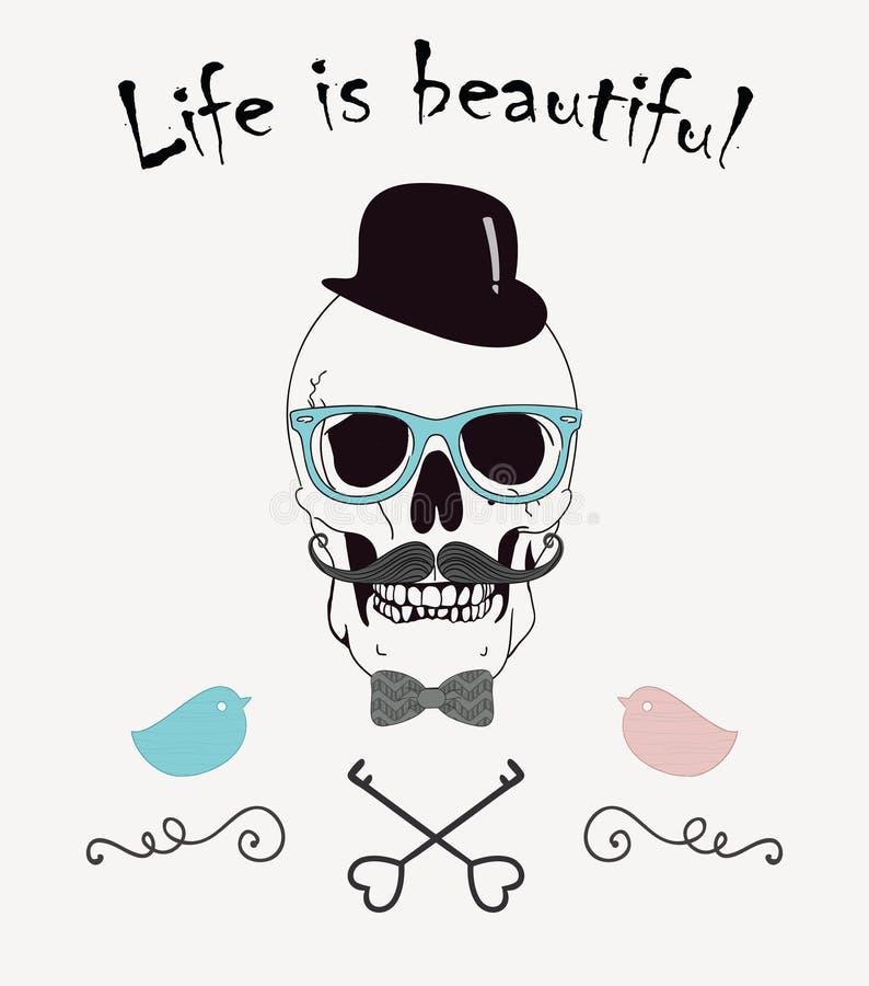 Das Leben ist schöne lustige Vektor-Illustration lizenzfreie abbildung