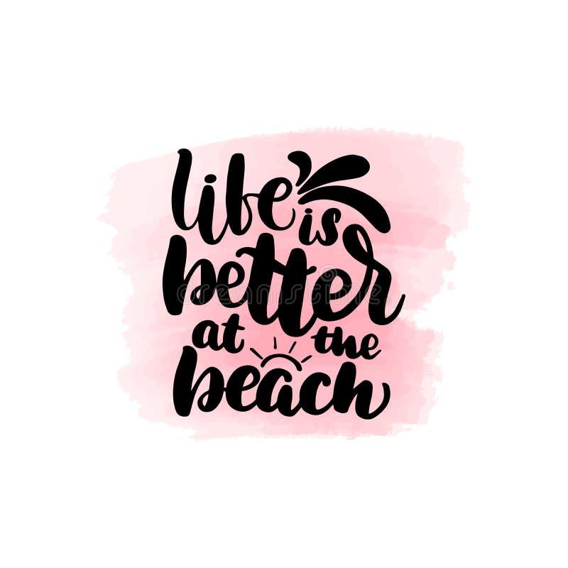 Das Leben ist am Strand besser vektor abbildung