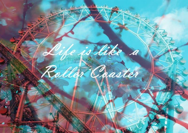 Das Leben Ist Wie Eine Achterbahn Stockfoto - Bild von