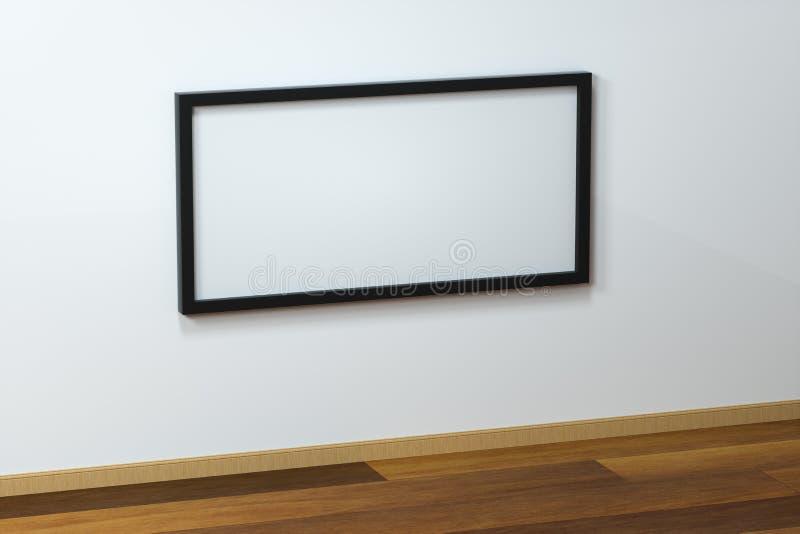 Das leere Gestellbrett mit Bretterbodenhintergrund, Wiedergabe 3d stock abbildung