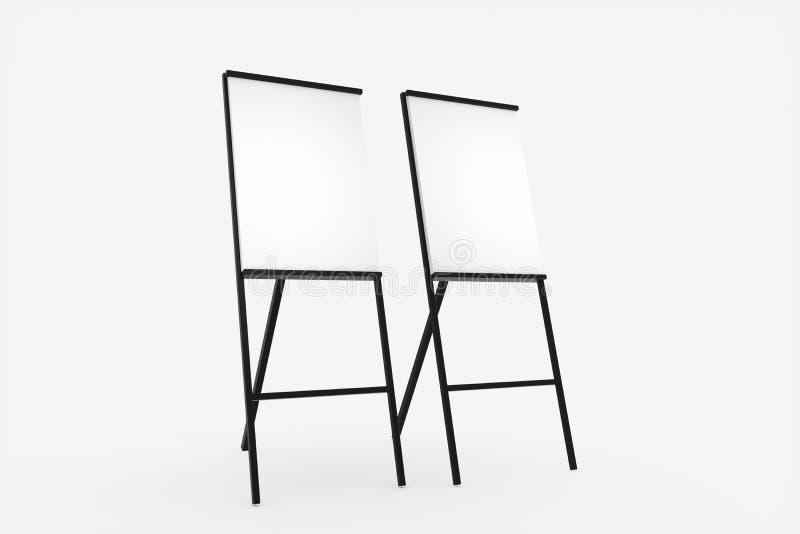 Das leere Gestellbrett mit weißem Hintergrund, Wiedergabe 3d lizenzfreie abbildung