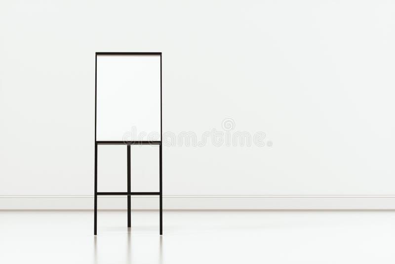 Das leere Gestellbrett mit weißem Hintergrund, Wiedergabe 3d stock abbildung