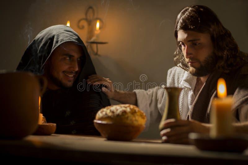 Das letzte Abendessen von Jesus Christ lizenzfreie stockbilder