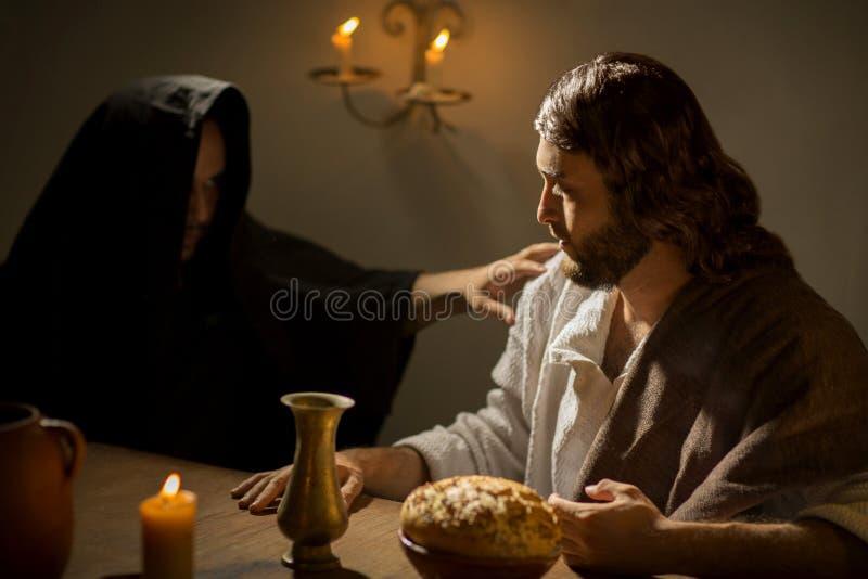 Das letzte Abendessen von Jesus Christ lizenzfreie stockfotografie