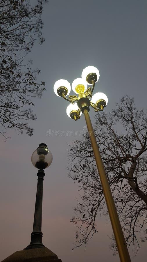 Das Licht im Zwielicht lizenzfreies stockbild