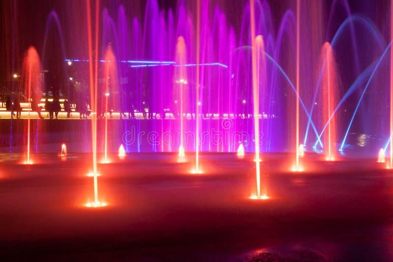 Das Licht und der Musikbrunnen in Elat, Israel lizenzfreie stockbilder